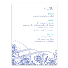Flowers and Flourishes - Menu Card