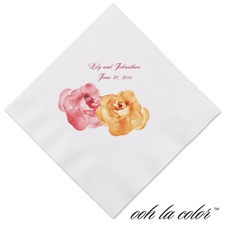 Heavenly Watercolor - Orange - Dinner Napkin