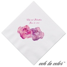 Heavenly Watercolor - Raspberry - Dinner Napkin