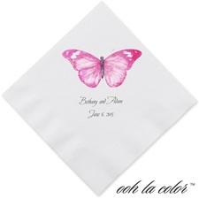 Butterfly in Lipstick - Dinner Napkin