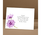 Watercolor Peony - Amethyst - Reception Card