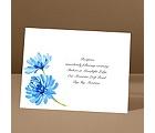 Watercolor Peony - Blue - Reception Card