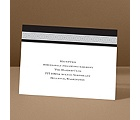 Band of Silver - Ebony - Reception Card