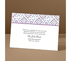Antique Details - Amethyst - Reception Card