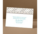 Antique Details - Chocolate - Reception Card