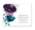Sultry Blooms - Grapevine - Reception Card
