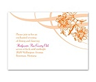 Flowers and Flourishes - Reception Card