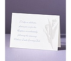 With Such Grace - Reception Card