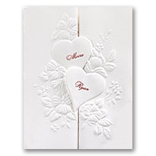 Interlocking Hearts Wedding Invitation