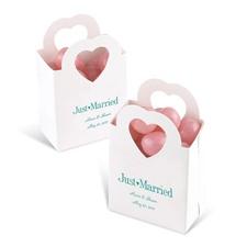 White Heart Handled Box