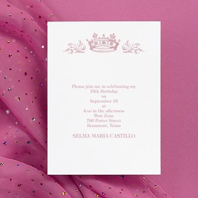 2657 dw quinceanera princess invitationo