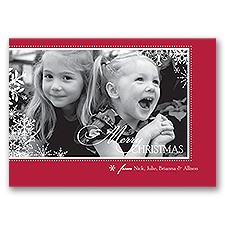 Snowflake Season - Photo Christmas Card