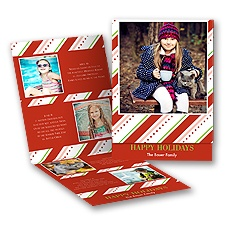Festive Stripes - Storyline Photo Holiday Card