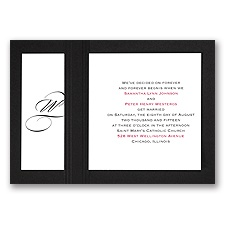 Elegant Monogram - Black - Layered Invitation
