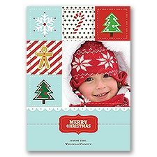 Christmas Patchwork - Photo Holiday Card
