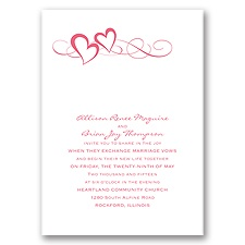 Color of Romance Wedding Invitation