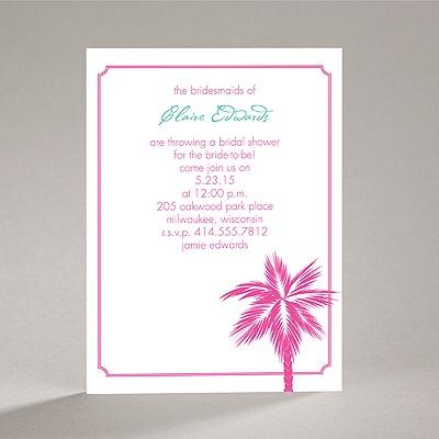 Tropical Palms - Fuchsia - Bridal Shower Invitation