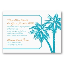 Tropical Palms - Turquoise Invitation