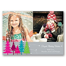 Bright Wishes - Photo Holiday Card