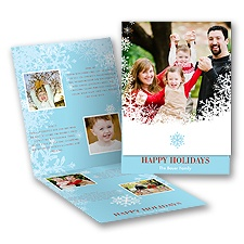 Snow Flurry - Storyline Photo Holiday Card