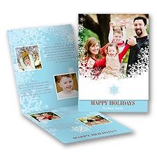 Snow Flurry - Storyline Photo Holiday Card