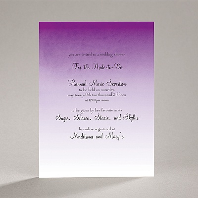 Sweet Shading - Purple - Bridal Shower Invitation