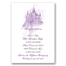 Magical Romance - Accommodations Card