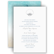 Beach Romance - Sterling - Invitation