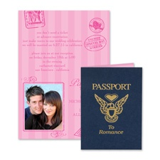 Passport to Romance  Wedding Invitation