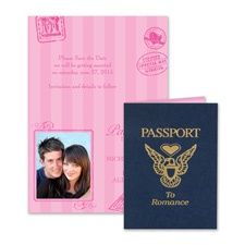 Passport to Romance Modern Save the Date