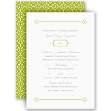 Fun Frame - Green - Invitation