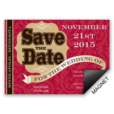 Poster Style - Save the Date Magnet