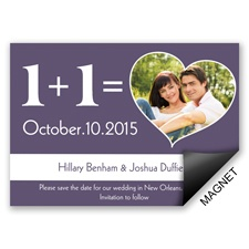 Romantic Equation - Save the Date Magnet