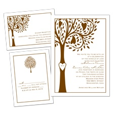 Tree of Love 3 for 1 Wedding Invitation