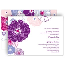 Hip Blossoms - Berry - Invitation