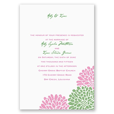 It Takes Two - Fuchsia - Invitation