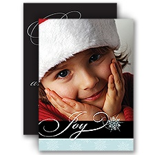 Wintry Wishes - Photo Holiday Card