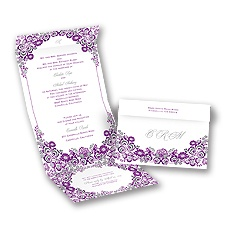 Flower Frame Grapevine Seal and Send Wedding Invitation