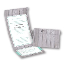 Rustic Fence Seal and Send Wedding Invitation