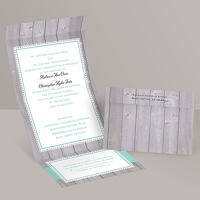 Rustic Fence - Seal and Send Invitation