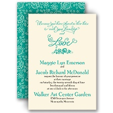 Love in Bloom - Ecru - Invitation