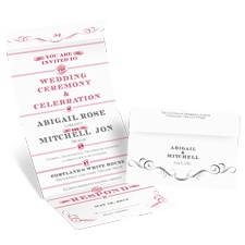 Bold Poster Seal and Send Wedding Invitation