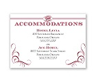 Bold Poster - Accommodations Card