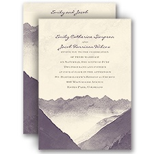 Mountain Mist Ecru Wedding Invitation
