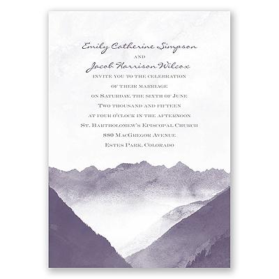 Mountain Mist - Invitation