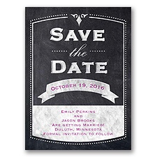 Old School Save the Date