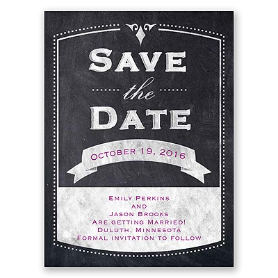 · View All Under the Willows · Old School - Save the Date Card