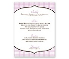 Gingham Lanterns - Menu Card