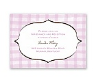 Gingham Lanterns - Reception Card
