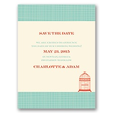 Devotion - Ecru - Save the Date Card